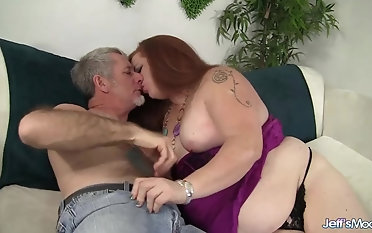 Downhearted Plumper Scarlett Malicious Uses Her Fat Body to Please a Thick Dick