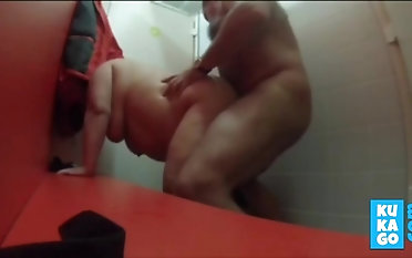 Sex in swimming come together changing room